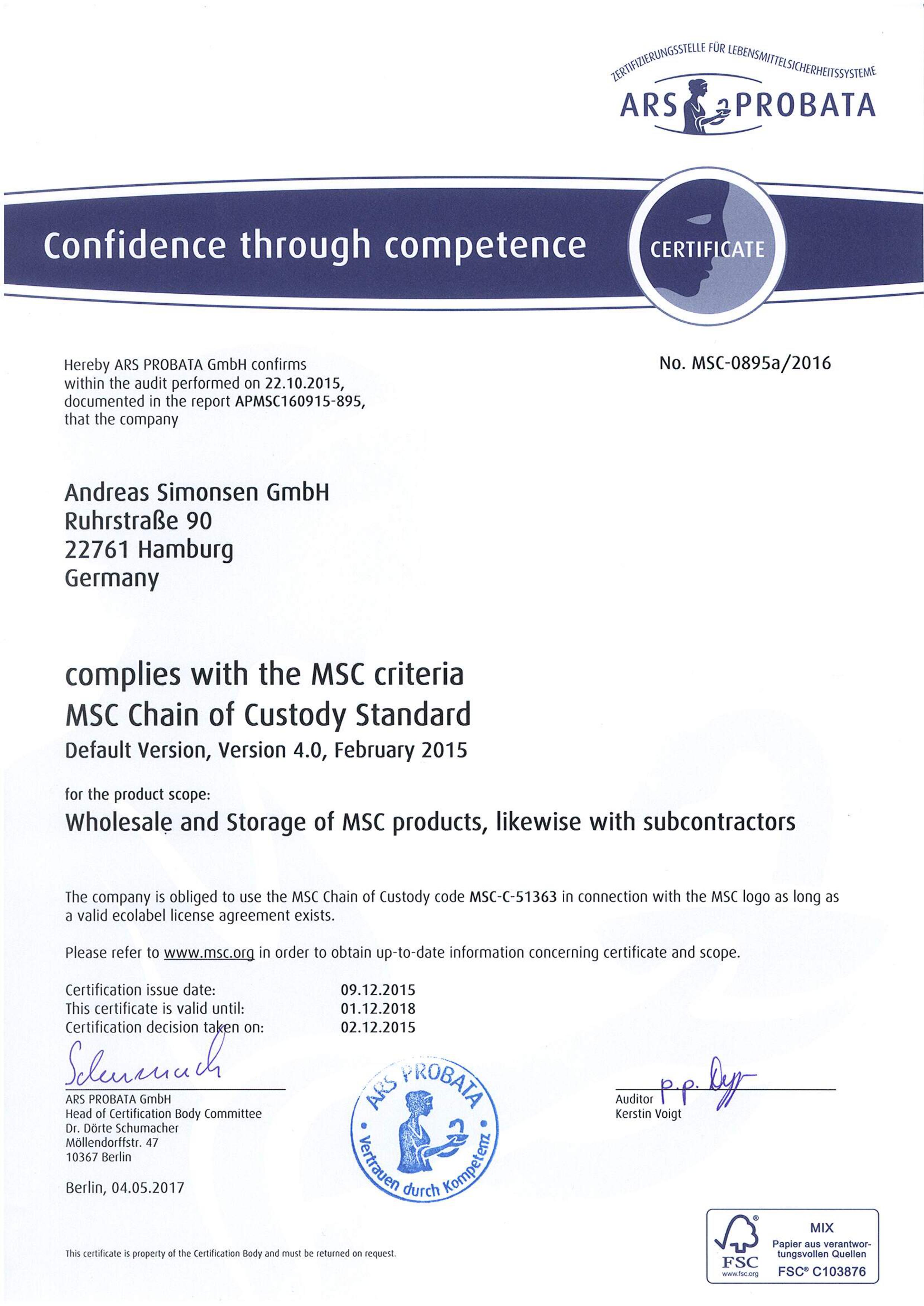Msc certificate andreas simonsen gmbh msc certificate xflitez Choice Image